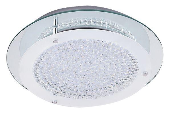 MARION Rábalux - stropné LED svietidlo - kov+sklo - ø 360mm