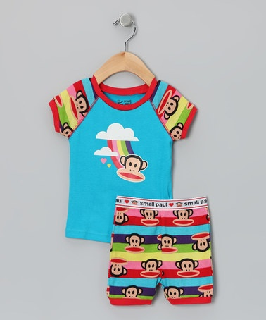 Take a look at this Paul Frank Turquoise Rainbow Monkey Pajama Set - Toddler by Paul Frank on #zulily today!