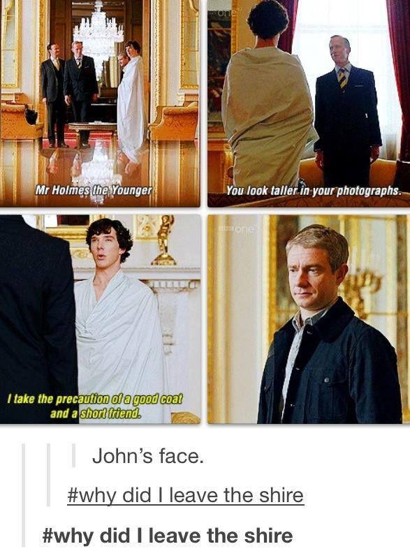 Aww! Sherlock and the hobbit <3