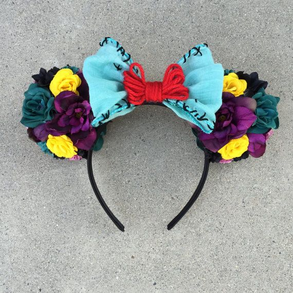 """The Nightmare Before Christmas"" Sally Inspired Flower Minnie Mouse Disney Ears By #MyFloweers"