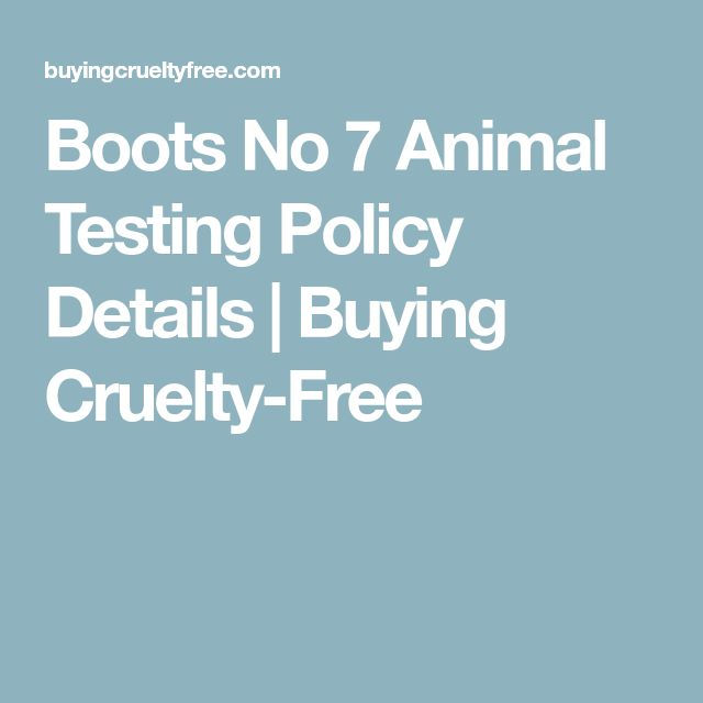 Boots No 7 Animal Testing Policy Details | Buying Cruelty-Free