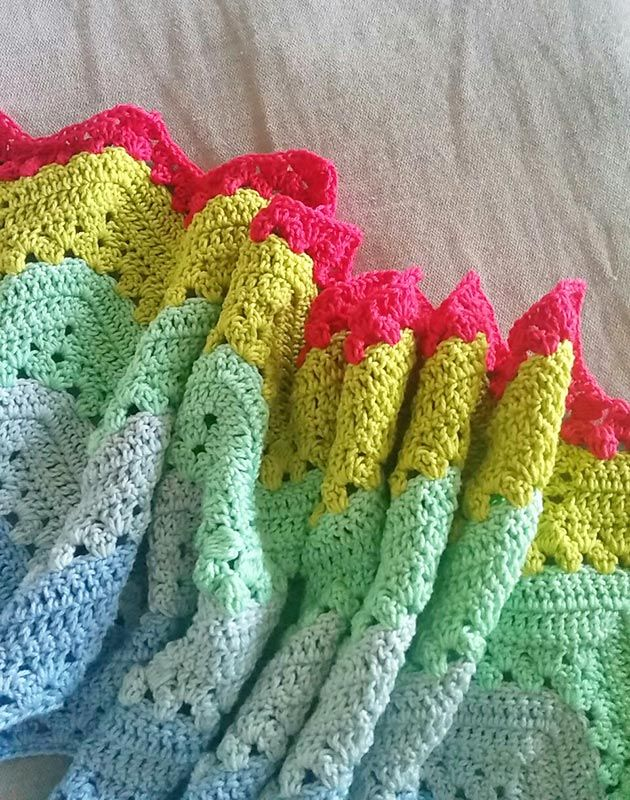Granny chevron ripple blanket a week of crochet