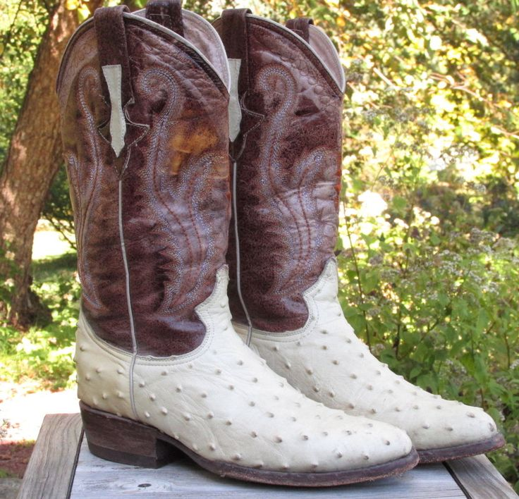 Men's Norteno Mexican All Leather Cowboy Boots size US 7.5 EE