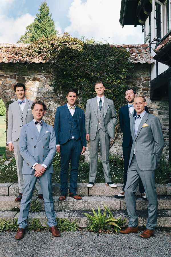 The groom and his boys looking very dapper, from 'A 1920s Jazz Age, Prohibition and Charleston Inspired Vintage Wedding', photographed by http://www.brighton-photo.com/