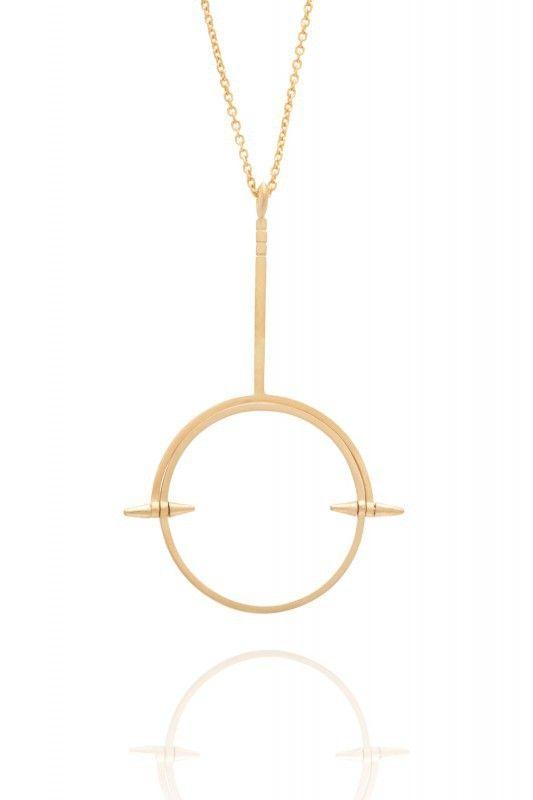 Maria Black Spinning Monocle Halskette vergoldet. www.styleserver.de
