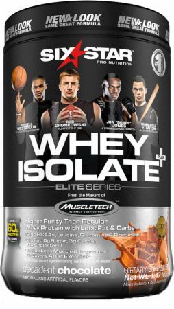 Six Star Pro Nutrition Whey Isolate Decadent Chocolate 1.5 Lbs. SIX018 Decadent Chocolate - High Biological Value 100% Whey Protein Isolate!*