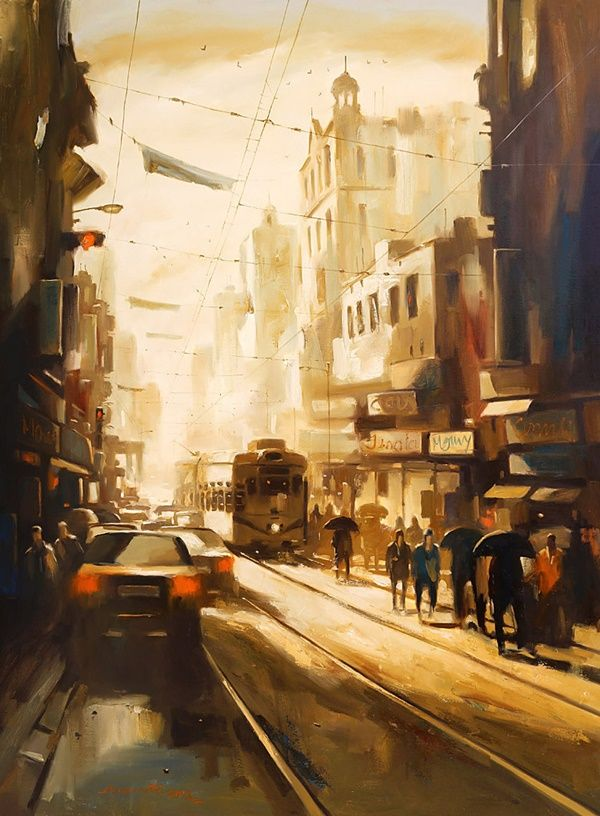 35 Ultimate Cityscape Painting On Canvas Cityscape Drawing City
