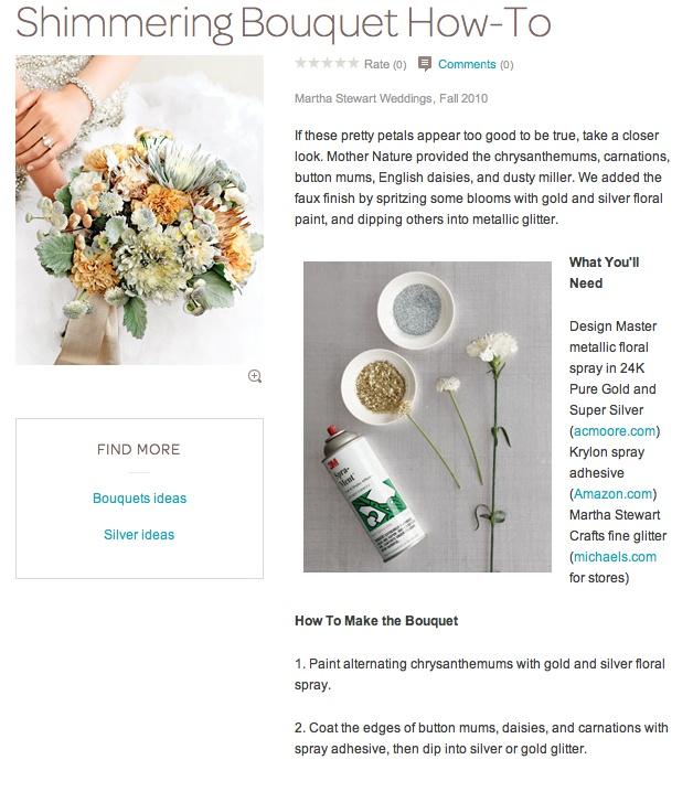 glimmering bouquet DIY from MSL