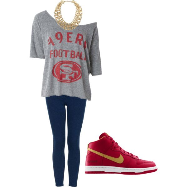 """49ers Game Day Gear"" by gamedaywives on Polyvore"