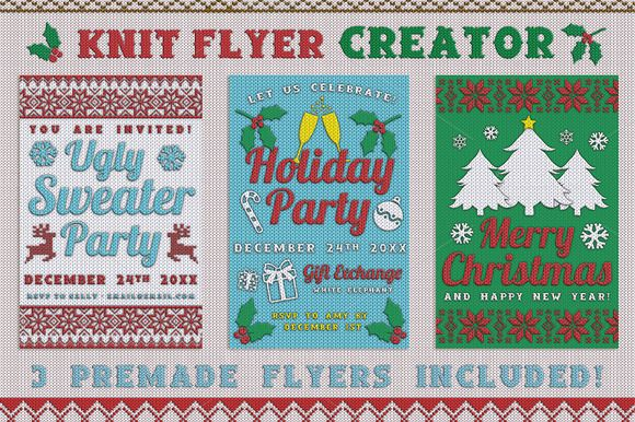 Knit Flyer Creator by Lucion Creative on Creative Market