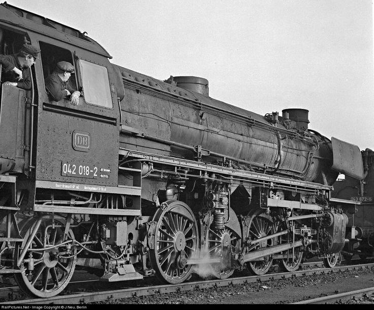 RailPictures.Net Photo: 042 018 Deutsche Bundesbahn Steam 2-8-2 at Emden, Germany by J Neu, Berlin