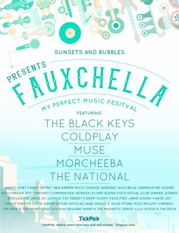 Sunsets & Bubbles - 20 April 2016  #summerfestivals #perfectlineup#coldplay #muse#morcheeba #thenational #theblackkeys #chetfaker #banks #benharper #summer16 #musicfestival #coachella #lineup