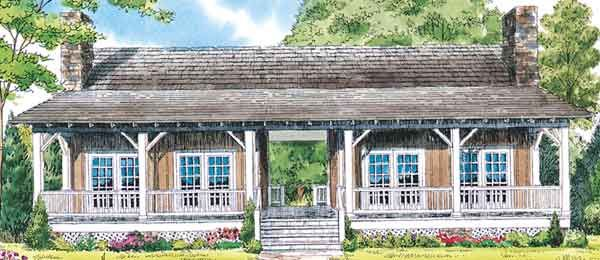 Whispering Pines - Really cute cabin 'duplex'. Note: I've found the site to the actual plans and fixed the link so this no longer links to just a picture! Also, same house as Maple Trace which has the finished 2nd bedroom on the 2nd floor. ~ Sheila