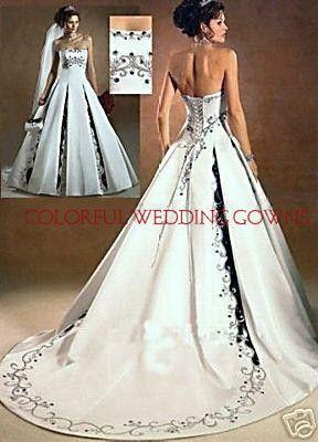 Colorful wedding dress unique wedding gowns colored for Unique colorful wedding dresses