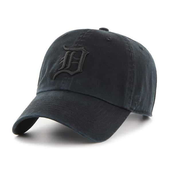 online store 36072 c5ccd Detroit Tigers 47 Brand All Black Clean Up Adjustable Hat