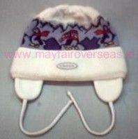 Jacquard ear flap hats