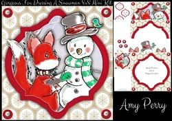 Gorgeous Fox Dressing A Snowman 8x8 Mini Kit on Craftsuprint - View Now!