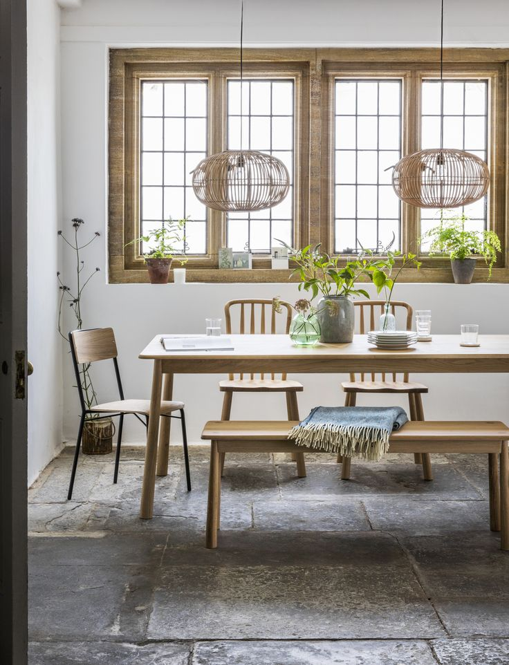 Rebecca Dining Table with Greta Chairs, Bruce Chair & Agatha Bench