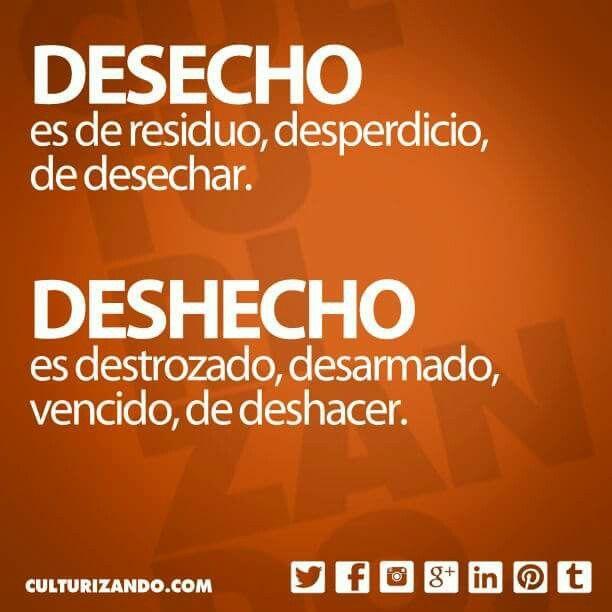 Desecho/deshecho