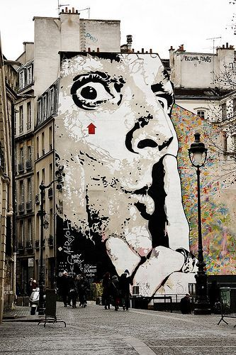 Love this Paris street art. Street art photography. Paris 2012.