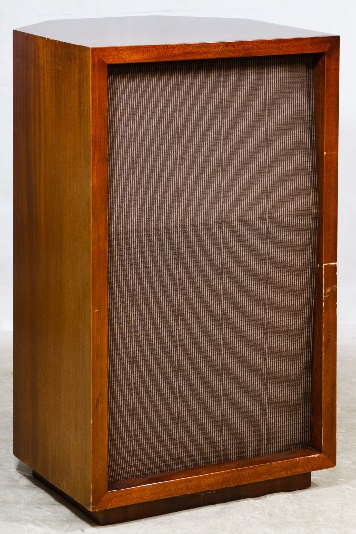 Lot 361: James B Lansing (JBL) Model N1200 Speaker; Serial #502170, 16 ohms having two input connectors; together with an Altec Lansing Power Equation Calculator slide ruler