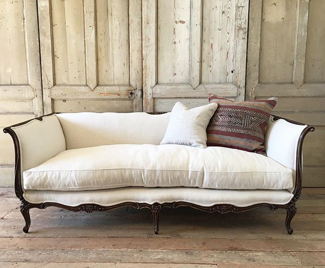beautiful walnut carved french daybed sofa coming soon