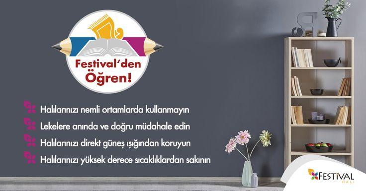 Halı kullanımında önemli olan altın kurallar. #festivaldenögren