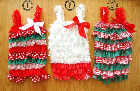 Christmas Lace Petti Romper-Christmas Outfit-Baby Girl Clothes-Lace Petti Romper-Preemie-Newborn-Infant-Toddler-Child-Holiday Outfit-Dress on Etsy, $9.99
