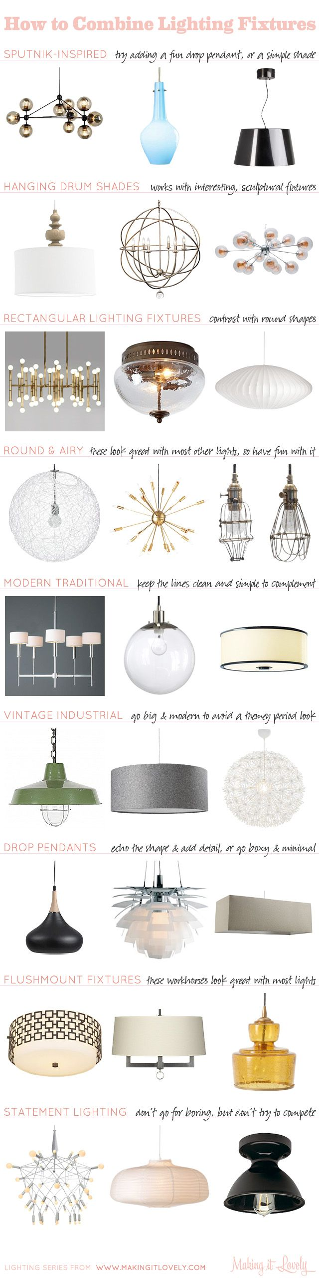 Guide to Combining Light Fixtures