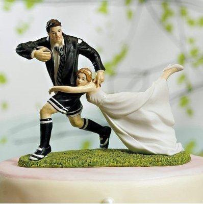 Resin Wedding Cake Topper (American Football)