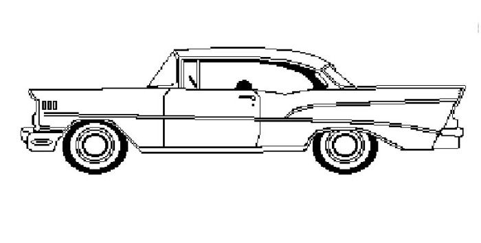 Classic Car coloring page | sewing | Coloring pages, Cars coloring ...