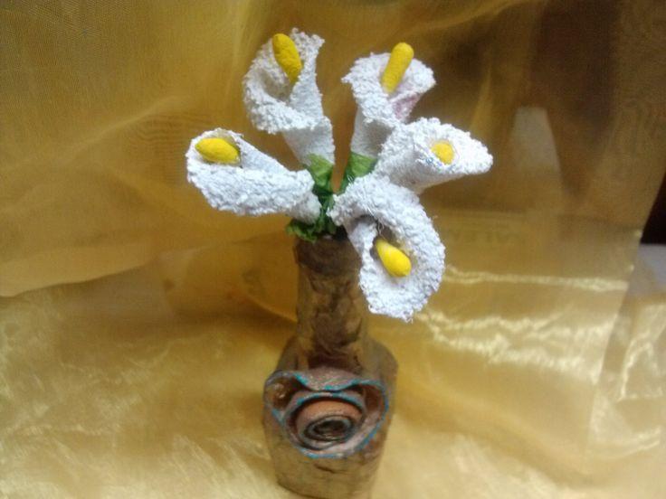 DIY Flores ALCATRACES reciclando / Gannet flowers recycling