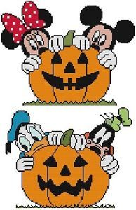 Cross Stitch Knit Crochet Plastic Canvas Waste Canvas Rug Hooking and Bead Work Patterns. Two separate patterns here to make a cute pair! Mickey and Minnie Mouse and Donald Duck and Goofy dog. BOO! https://www.pinterest.com/resparkled/