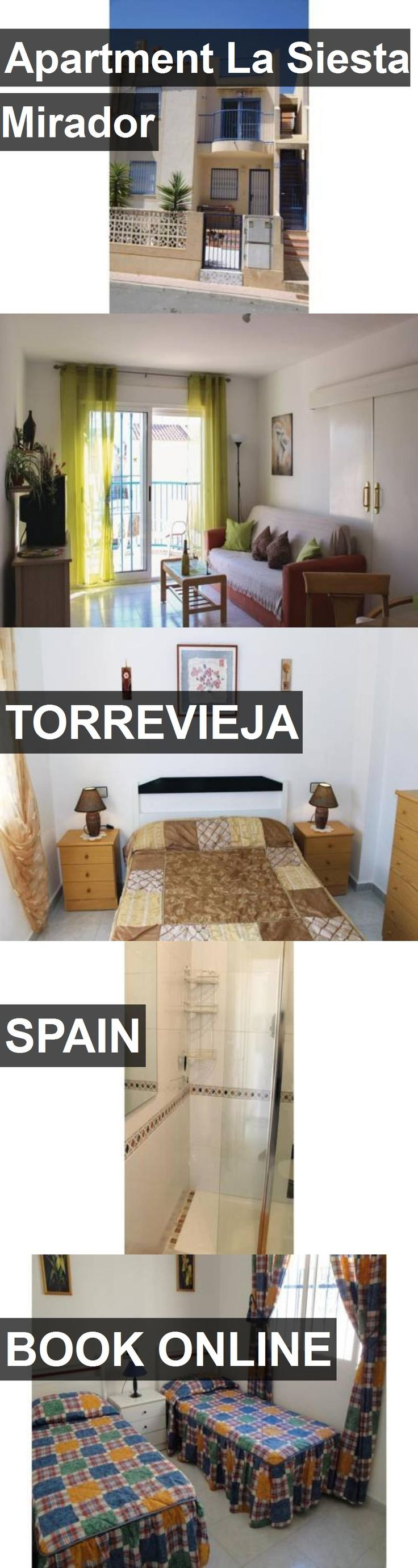 Apartment La Siesta Mirador in Torrevieja, Spain. For more information, photos, reviews and best prices please follow the link. #Spain #Torrevieja #travel #vacation #apartment