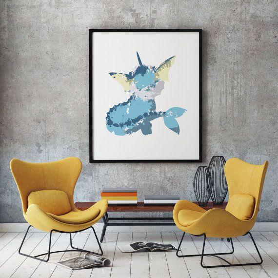 Vaporeon  Wall art  Wall decor  Instant di SbarbySweetPrints
