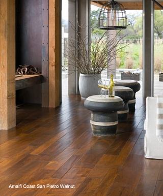 Amalfi coast san pietro walnut hardwood flooring by bella for High end hardwood flooring