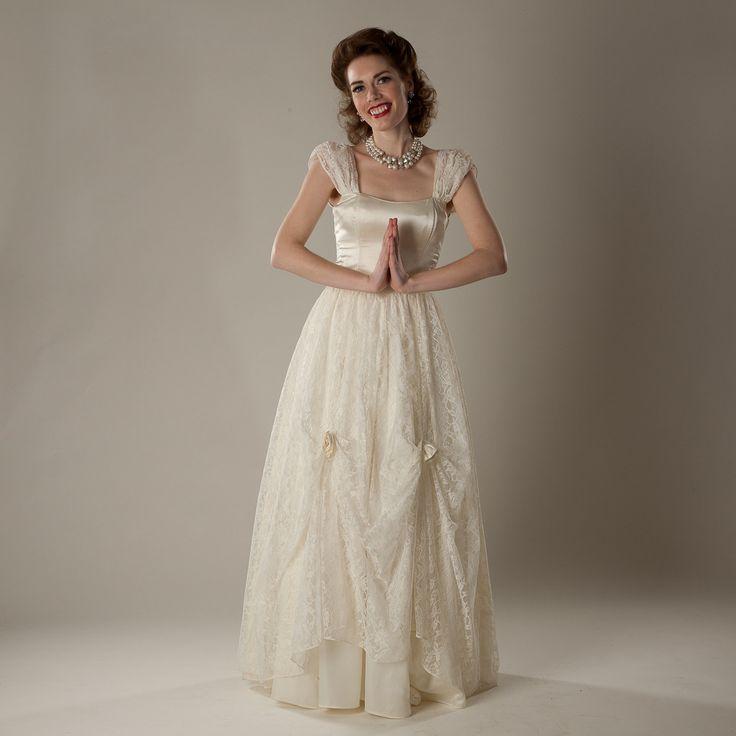 Charmant Vintage Hochzeitskleid Nähmustern Zeitgenössisch ...