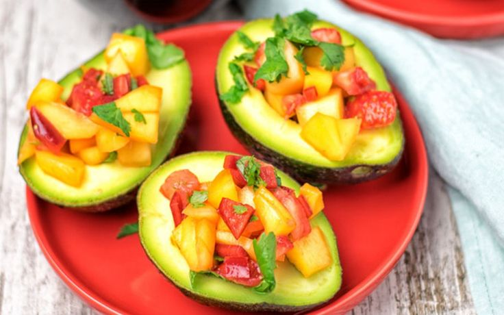 <p>These strawberry-mango salsa stuffed avocados are the perfect summer appetizer or treat. </p>