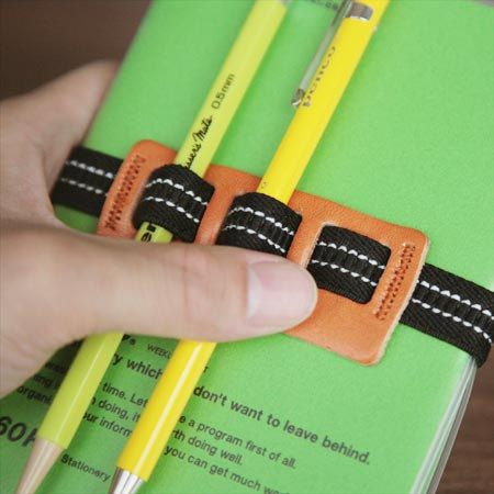 Planner Band with Pen Holder, Planner Pen Holder, Journal Pen Holder, Journal / Diary Band, Pen Bandolier, Pen Loop, A6 Size, (S)