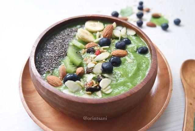 Healthy Green Smoothie Bowl Qorina Putri Tsani Resep Smoothie