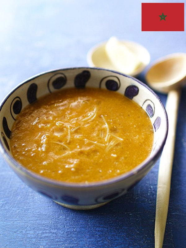 Recipe : ハリラ (モロッコ)/ラマダン明けのからだにやさしいモロッコではおなじみのスープ。家庭や屋台の数ほどレシピがあるといわれる。今回は肉を入れないレシピをご紹介
