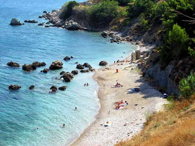 Chios, Greece. We used to go to this beach when no  one new of it !!