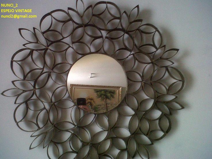 Como decorar un espejo con rollos de papel higienico - Como decorar un espejo ...
