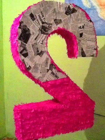 Como hacer una piñata en forma de Numero. Paso a paso. #hazlotumismo #DIY #Piñata #BirthdayParty #Cumpleaños