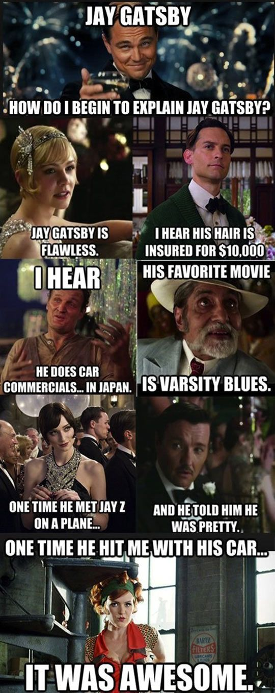 @jasonhugg @larissacurtis Mean Girls meets Gatsby… thought you might appreciate our two favorite movies being put together ;)