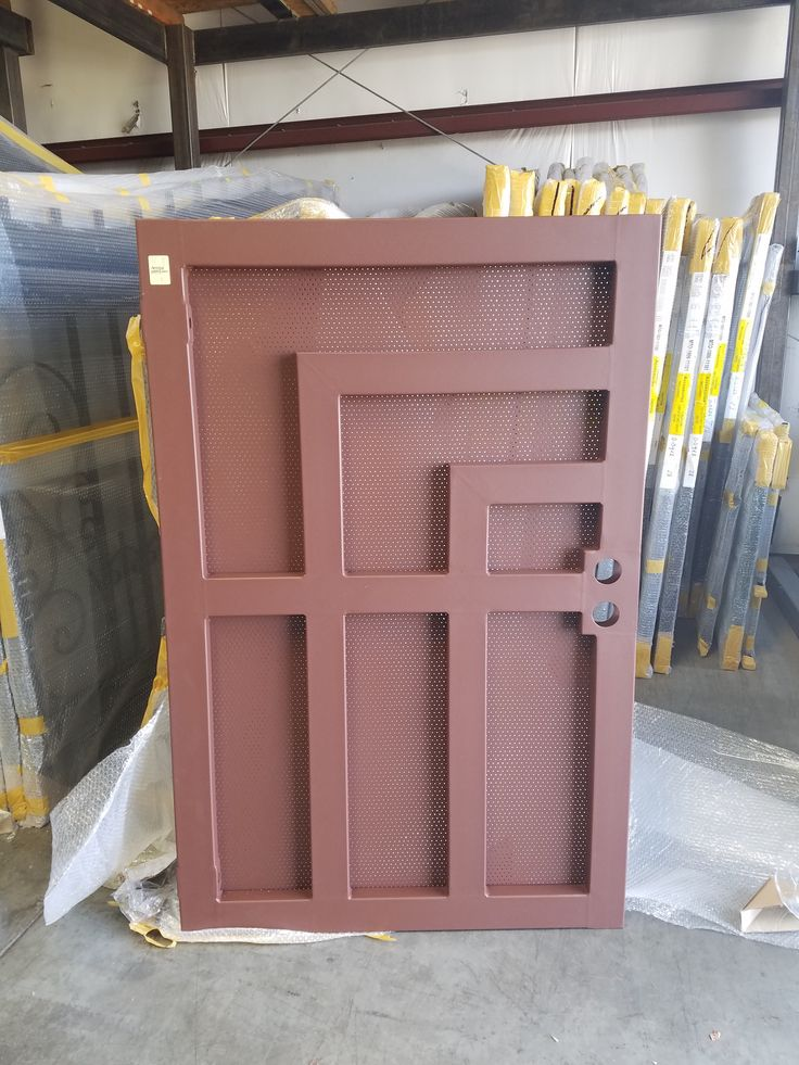 Garden Gate with privacy screen and spice rust powder coat