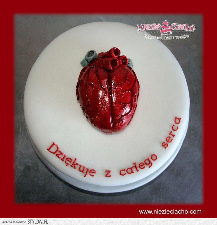 Serce, operacja na serce, tort od serca, tort z podziękowaniem, podziękowanie dla lekarza, tort dla lekarza, tort od pacjenta, torty szokujące, śmieszne torty, Tarnów