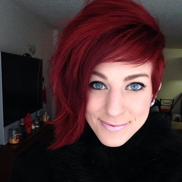 HOW-TO: Asymmetrical Red Pixie by Amanda Wright #howto #formula #haircolor #step…