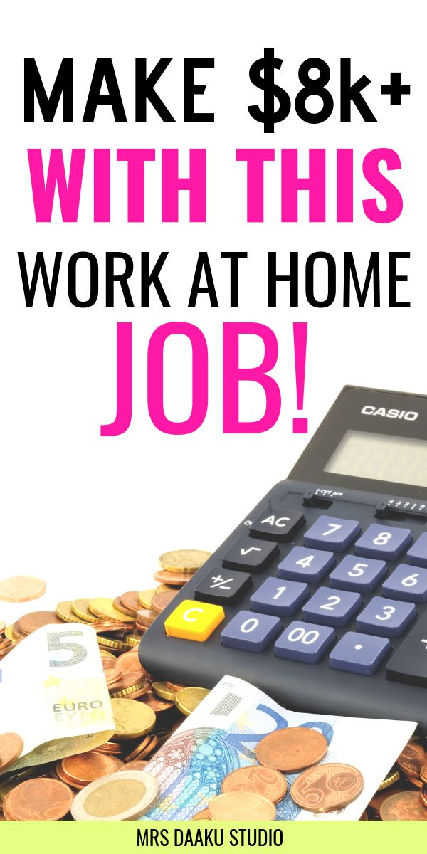 Make $8k+ a month with this work at home jobs: Earn money online!