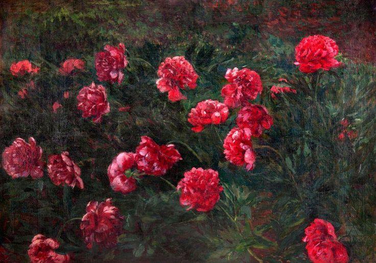 ANTONÍN SLAVÍČEK (1870-1910) Peonies